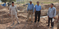 H.E Oknha Othsman Hassan visits the Mosque construction at Chheur Teal Ploih Village, Kratie Province
