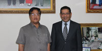 Bahrain Ambassador to Bangkok paid courteous visit with Muslim leaders in Cambodia