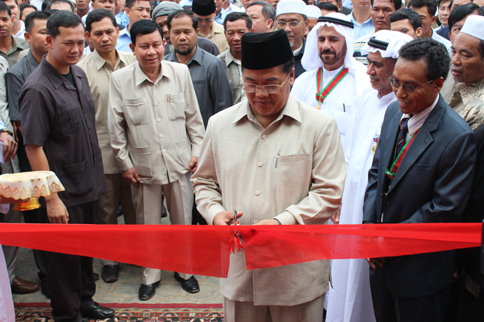 Mosque Inauguration in Pongro Village, Pongro Commune, Chhlong District, Kratie Province Under Great Honorable of H.E Hum Manet